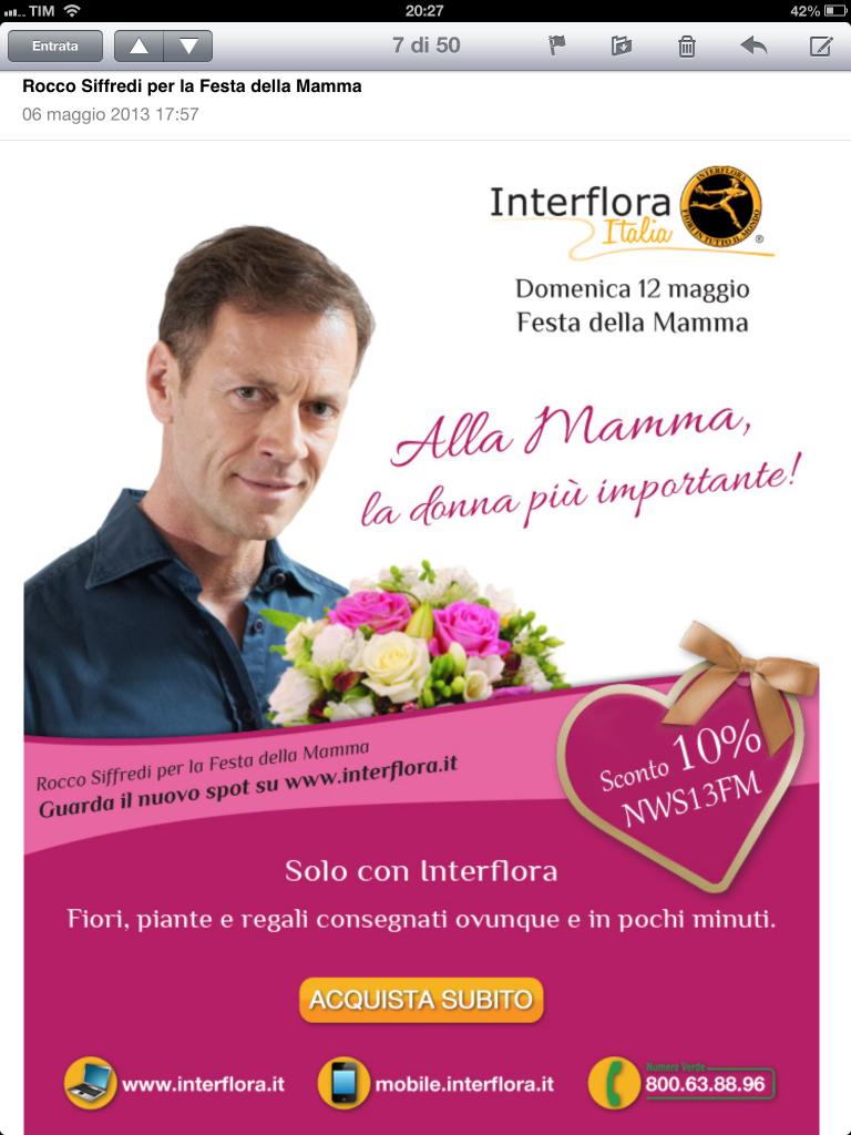 Rocco Soffredi Interflora